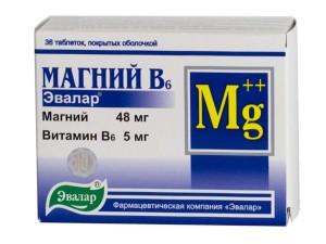 Польза препаратов, содержащих магний и витамин B6