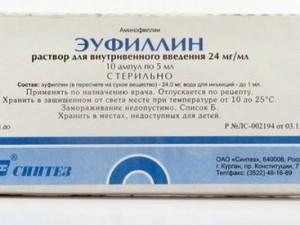 Побочные эффекты и противопоказания Эуфиллина